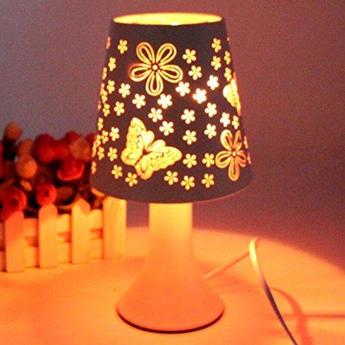 SQDTNSLT-Cut elegante aroma di farfalla della spina della lampada regolabile lampada da tavolo home wedding holiday gift luce