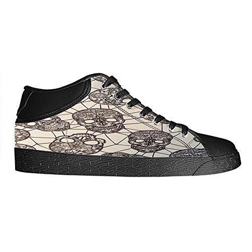 Dalliy Flower Sugar skull Men's Canvas shoes Schuhe Lace-up High-top Sneakers Segeltuchschuhe Leinwand-Schuh-Turnschuhe D