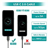 Techole USB Type C Cable, [2 Pack] USB C Fast Charging Cables 3.3ft&0.5ft, Nylon Braided USB C to USB 3.0 Cable for Galaxy S9/S8+/S8, Note 8, Sony XZ, Nintendo Switch, HTC 10, Pixel 2xl, Pixel C,etc