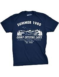 Crazy Dog TShirts - Mens Summer 1980 Mens Funny T shirts Camping Shirt Vintage Horror Novelty Tees - Divertente Uomo Maglietta