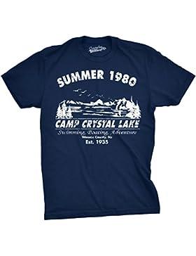Crazy Dog TShirts - Mens Summer 1980 Mens Funny T shirts Camping Shirt Vintage Horror Novelty Tees - Camiseta...