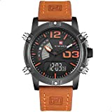 Naviforce Casual Watch For Men Analog-Digital Leather - 9095 B-O-L.BN