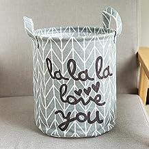 OHQ impermeable animal lienzo hojas lavandería Cesto de la ropa plegable caja de almacenaje