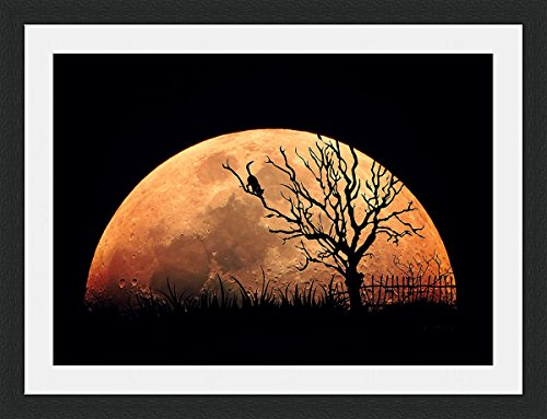 blood-moon-animated-framed-mounted-40x30cm-black-frame