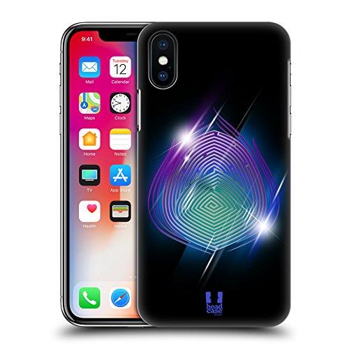 Head Case Designs Tridente Di Poseidone Labirinti Degli Dei Cover Retro Rigida per Apple iPhone X Pavone Di Era
