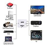 HDMI zu Scart Konverter? HDMI zu AV/RCA CVBS Adapter Mini HDMI2AV Video Konverter Box für HDTV TV PS3 Computer PC VCR NTSC Vergleich