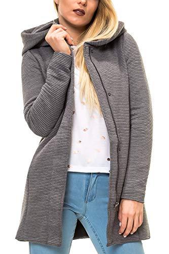 ONLY Damen Übergangsmantel Kurzmantel mit Kapuze (M, Colour 8)