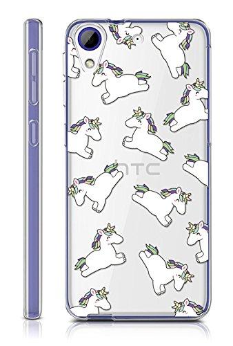 Sunrive HTC Desire 650/628 / 626 / 626G Hülle Silikon, Transparent Handyhülle Schutzhülle Etui Case Backcover für HTC Desire 650/628 / 626 / 626G(TPU Einhorn)+Gratis Universal Eingabestift