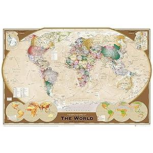 GB eye LTD, Mapa del Mundo, Projección Triple, Maxi Poster, 61 x 91,5 cm