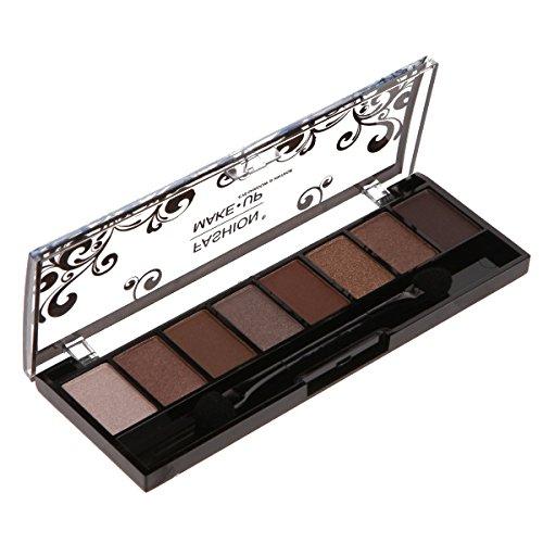 Palette Maquillage - 8 Fards Ombres à Paupières Teinte Dégradé de Marron