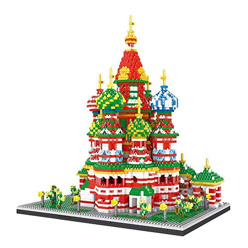 JW-YZWJ Kinder Building Blocks, Vasily Kathedrale Puzzle Building Blocks Spielzeug, 3D-Puzzle DIY Puzzle Spielen, Aufbau-Spielzeug Kirchenbau Kit