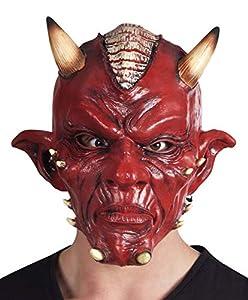Boland-Máscara diablo Deluxe de látex para adulto, color rojo, talla única, 97505