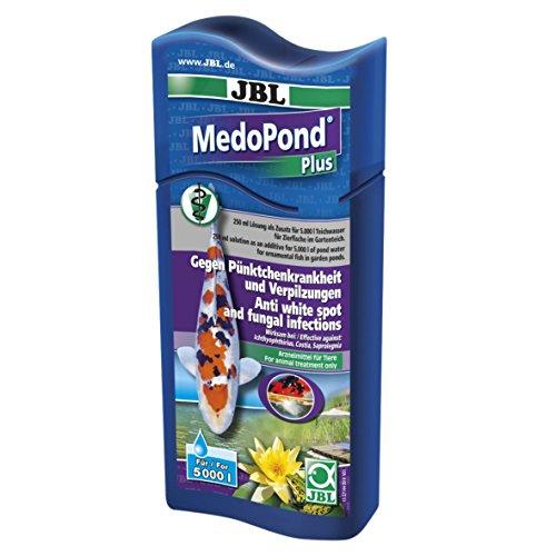 JBL 27144 Heilmittel gegen Pünktchenkrankheit und Verpilzung bei Teichfischen, MedoPond Plus, 250 ml