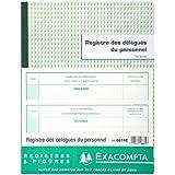 Exacompta 6614E Registre des délégués du personnel 24x32cm 30 feuilles