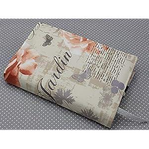 Buchhülle Buchumschlag Taschenbuch A5 Notizhülle Jardin