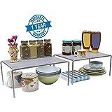 Callas Stackable Kitchen Cabinet and Counter Shelf Organizer,Silver, CA91AB