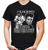 Elvis Presley Männer und Herren T-Shirt | Musik The King Retro Vintage | M2 (XL, Schwarz)