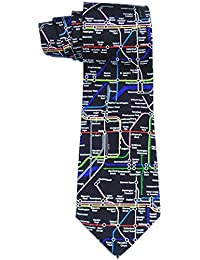Elegance Men's Black London Underground Quality 100% Silk Tie