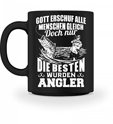 Hochwertige Tasse - Fischer Angeln Gott erschuf alle Menschen gleich doch nur die besten wurden Angler