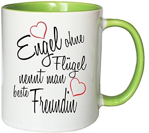Mister Merchandise Kaffeebecher Tasse Engel ohne Flügel nennt man beste Freundin BFF Freund...
