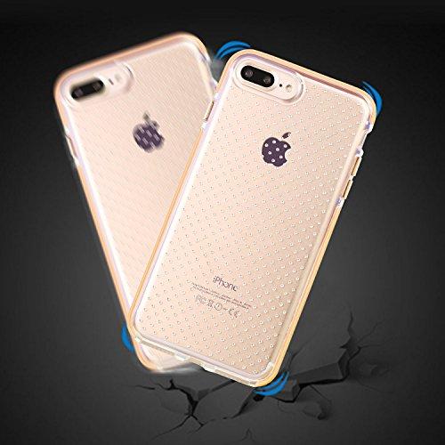 iPhone 8 Hülle,iPhone 7 Hülle, X-Level TPU Fallschutz Schock Handyhülle Schutzhülle für iPhone 7/8(Transparente+Schwarz) Orange