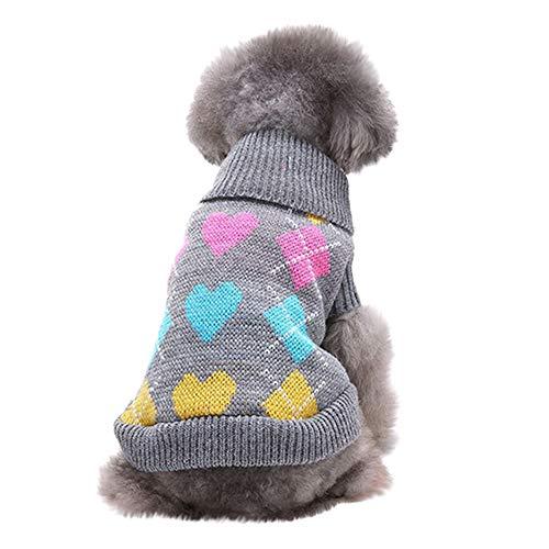Thanksgiving Kostüm Hunde Katze - OHQ Haustier Kostüm - Haustier Hund Rollkragen, Haustier Hund Katze Winter Warm Rollkragenpullover Mantel Kostüm Bekleidung