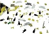 200 Stück GEBURTSTAGSPARTY zum 40, Champagner/Sekt Happy Birthday Mix Streudeko