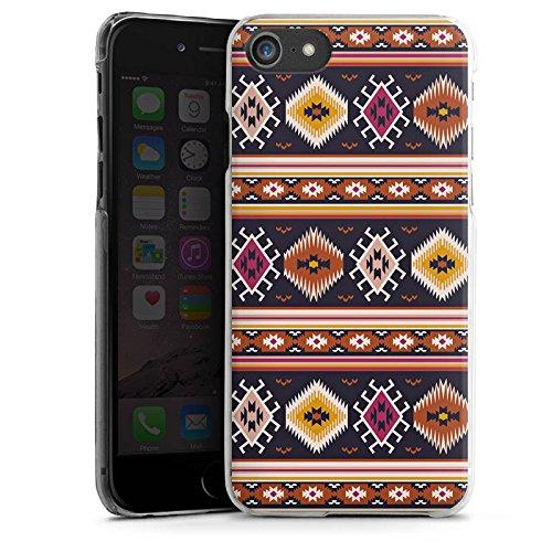 Apple iPhone X Silikon Hülle Case Schutzhülle Muster Ethno Bunt Hard Case transparent