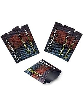 Fundas de bloqueo DreamTech RFID con diseño único. 5 piezas. Antirrobo premium para tarjetas de crédito/débito...