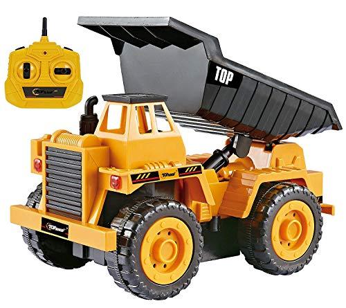 Top Race Camions de Construction de Petite Taille télécommandés, Choisissez Parmi nos 3 modèles Fabuleux (Camion à Benne basculante (112s))