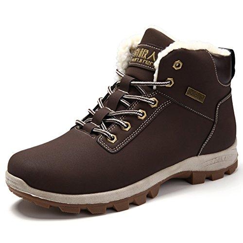 Gomnear Randonnée Chaussures Hommes Chaud Hiver En Plein Air Fourrure  Doublé Non-slip Trekking Escalade. Chaussures pour ... 1dcabe8181b2