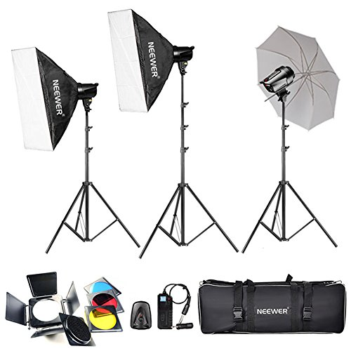 Neewer® 540W(180W x 3) Professionale Fotografia Studio Flash Lighting Kit di Strobe Luce per i Ritratti, Studio e Video Riprese ( EG-180B)