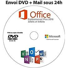 Microsoft office professionnel 2016 plus version complète CLE D'ACTIVATION + DVD Garantie ! @INFOrub