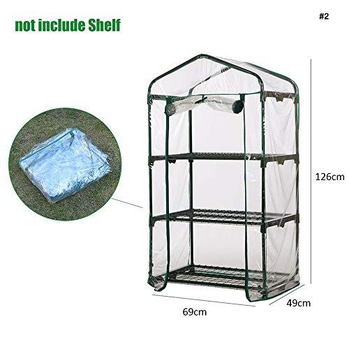 Danmei - copertura di ricambio in plastica per mini serre, per esterni, a 3 ripiani (senza telaio in ferro)