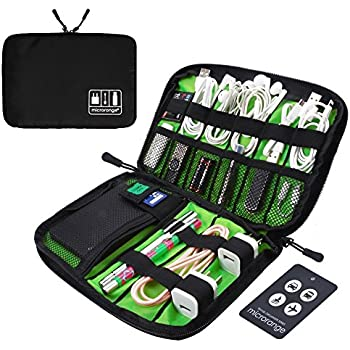 Visenta Cable Organizer Bag Travel Portable Small