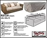 RLB220straight Hülle für Lounge Bank, Rattan Gartensofa oder Lounge Sofa, 2 - 3 Personen, passt am besten am Sofa von max. 220 x 95 cm. Schutzhüllen für Bank, Schutzhülle für Lounge Bänke, Abdeckhaube Schutzhülle Schutz-Plane für gartenbank gartensofa