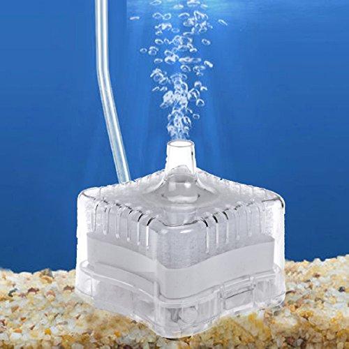 tongshi Acquario Fish Tank Super pneumatico Biochemical Filtro al carbone attivo (Trasparente)
