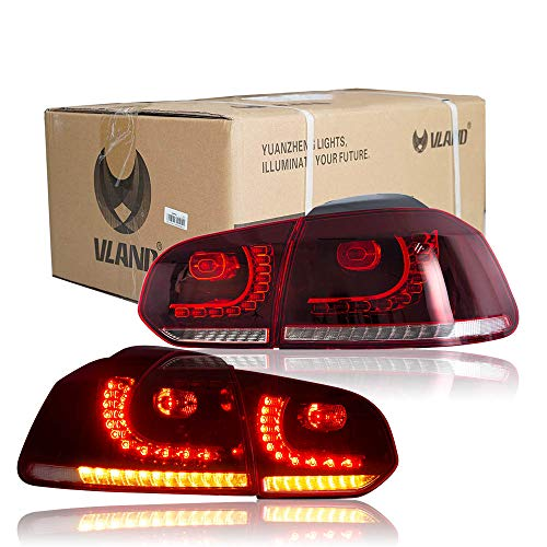 E-MARK LED BAR Rücklichter für GOLF MK6 GTI TDI GTD R 2008-2013 Sequenzielle Anzeige(Fahrerseite links)
