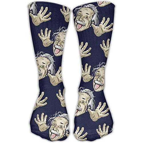 UFHRREEUR Funny Albert Einstein Men Women's Casual Athletic Stoking 30CM Crew Long Socks