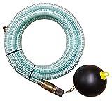 Brunnenandi Saugschlauch Set 20m mit Schwimmer für Elektropumpen - Auch zum Wasser fördern mit Hauswasserwerk, Hauswasserautomat, Jetpumpe aus Zisterne oder Regentonne geeignet