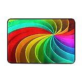 Use7 Fußmatte/Fußmatte für Innen- und Außenbereich, 60 x 40 cm, Regenbogenfarben