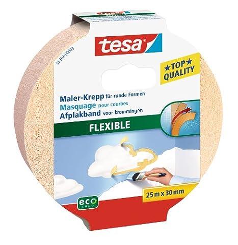 tesa Malerband für Kurven oder Rundungen, flexibel und dehnbar, 25m