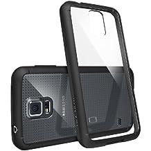 Funda Galaxy S5, Ringke FUSION [SF Black] Choque Absorción TPU Parachoques Protección Gota [GRATIS Protector de Pantalla] Prima Claro Trasera Dura [Antiestático][Resistente a Arañazos] para Samsung Galaxy S5