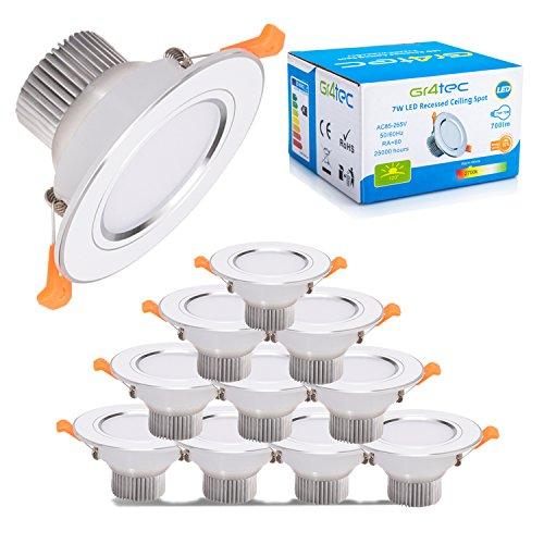 10 Focos LED empotrables de 3W marca Gr4tec
