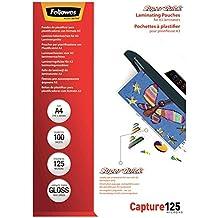 Fellowes ImageLast - Pack 100 fundas de plastificar, formato A4, 125 micras
