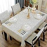 AHIMITSU Picknick Startseite Europäischen Tischdecke Stoff rechteckigen Stuhl Kissen Stuhlbezug Set Stuhl Sling Kissen blauen quadratischen Tischdecke acht Fee Tisch Einfacher Stil