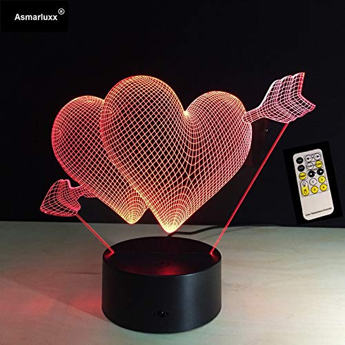 Valentinstag süß Handel Liebe Pfeil Desktop Nacht Fernbedienung oder Touch-Schalter Farbwechsel Wohnzimmer dekorative Lichter