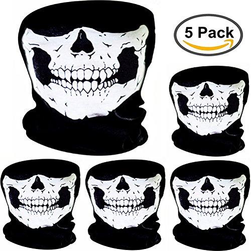 ske Schädel Gesicht Maske Motorrad Fahrrad Halbgesicht Skelett Maske Halloween Outdoor Sport Kopftuch (Halloween-gesicht-masken Für Kinder)