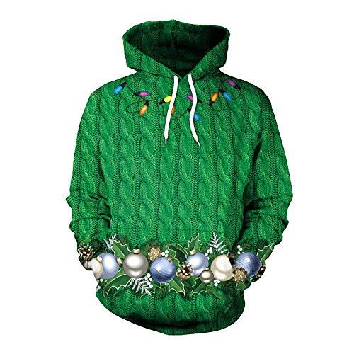 XDDQ Damen WeihnachtskostüM,Cosplay Weihnachtskleidung,WeihnachtskostüM Sexy,(WeihnachtskostüM Paar Jugend Herbst/Winter Sweatshirt Mit Kapuze Design)