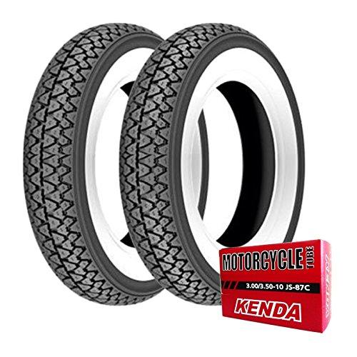 Coppia gomme pneumatici Kenda K333 3.50-10 51J + camere d'aria Vespa PX 125/150